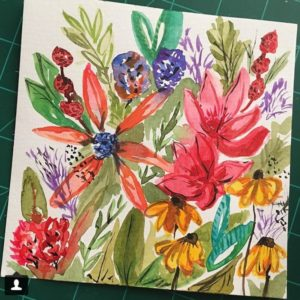 Prima Watercolors floral in the Tropicals colorway